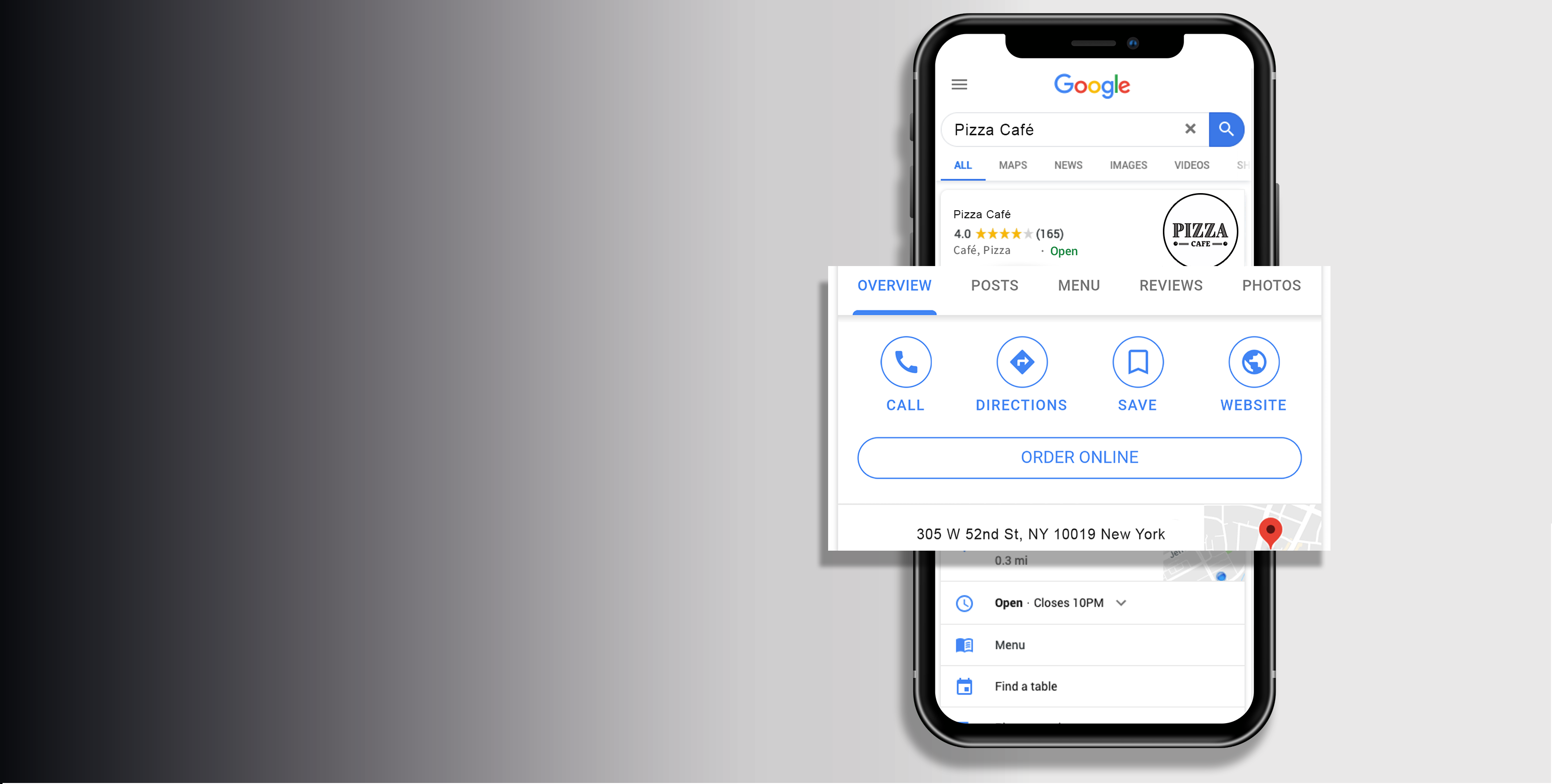 Ordering with Google